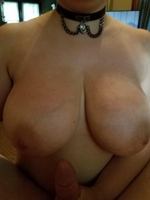 amateur photo My wife's nipples prior to titty fucking me