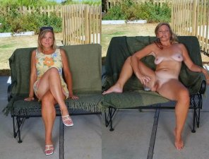 amateur photo Summer Dress On And Off