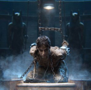 amateur photo Sofia Boutella chained in the new Mummy movie
