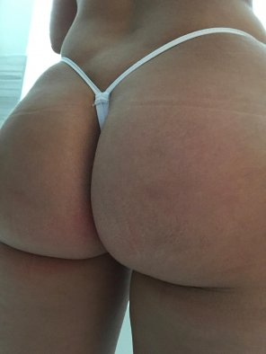 amateur photo [F] Thong of the day!!! Today is a white micro thong, enjoy!!!