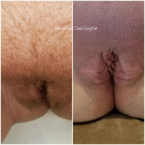 amateur photo Before and after waxing. Fuck that hurts