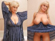 Blonde Milf Big Natural Boobs On/ Off