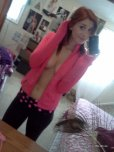 amateur photo A pink jacket and yoga pants