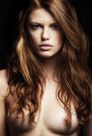 amateur photo Beautiful curly red hair