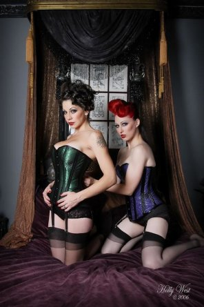 amateur photo Stockings and corsets