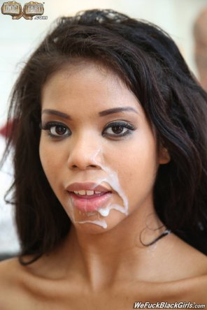 amateur photo Nia Nacci looking absolutely stunning with cum on her face