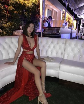 amateur photo PictureGlimmering red dress
