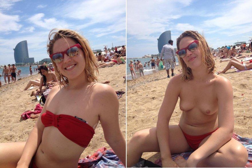 On The Beach Porn Photo