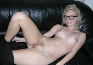 amateur photo Blonde on couch