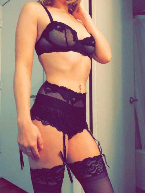Black Lingerie Porn Photo