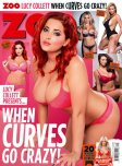 amateur photo Lucy Collett on the cover of Zoo Magazine - When curves go crazy