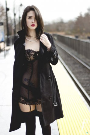 amateur photo Waiting for a Train