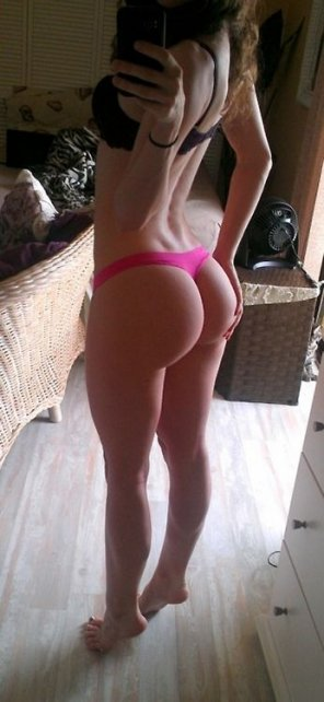 amateur photo Pink thong perfection