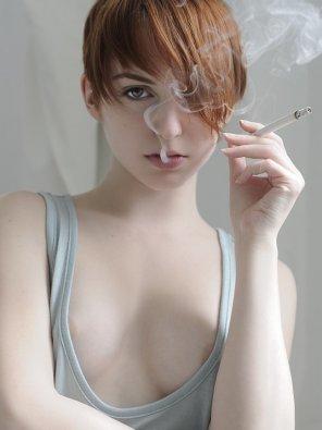 amateur photo She needs an ashtray