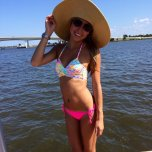 amateur photo Babe in the water