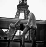amateur photo Under the Eiffel Tower