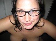 amateur photo cum on face
