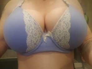 amateur photo When my Mr. is having a hard day at work, I send motivational boobs