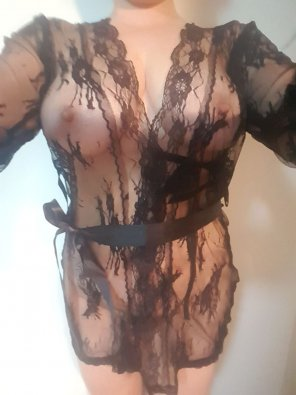 amateur photo sheer black lace