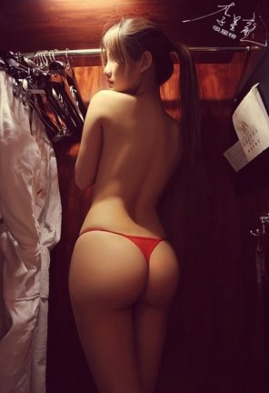 amateur photo In a closet