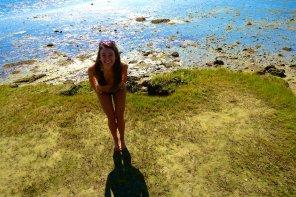 amateur photo On the shore.