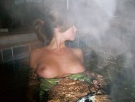 In the hot tub