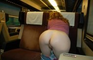 nude on a train