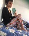 amateur photo Is the Mirror on her Bed?
