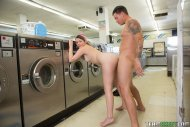 Cali Hayes at the laundromat