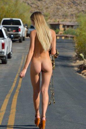 amateur photo Walking in public