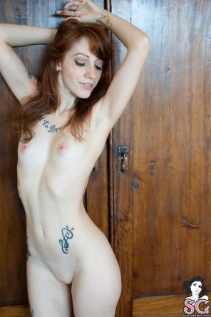 amateur photo Redhead with perfect pink nipples