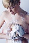 amateur photo Soapy sponge.