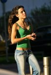 amateur photo Jeans and a green top