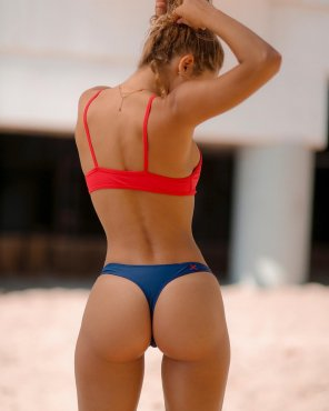 amateur photo Red, tan and blue