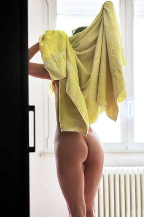 amateur photo Toweling Off