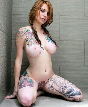 amateur photo Tattooed redhead