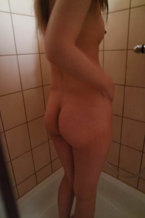 amateur photo About to take a shower