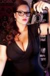 amateur photo Black Glasses, Red Lipstick