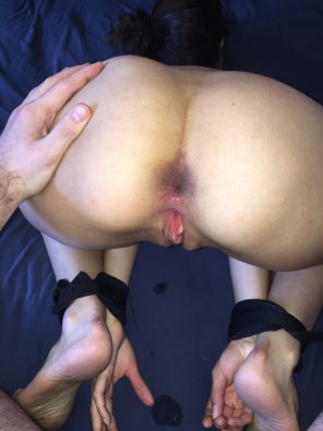 amateur photo Bent over and restrained