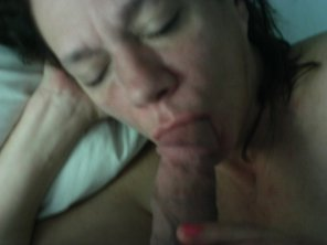 amateur photo Sucking his Cock