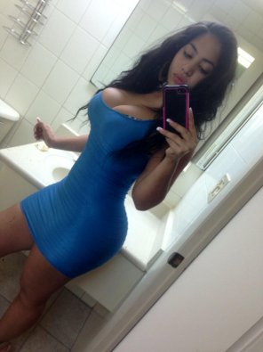 amateur photo In a blue dress