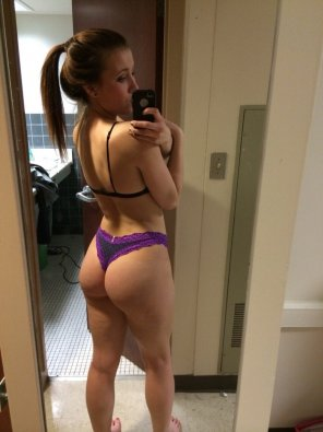 amateur photo Teen booty in a thong