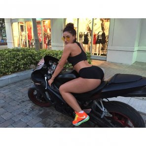 amateur photo Biker babe...