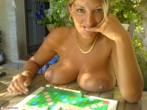 amateur photo Interested in a game of scrabble?