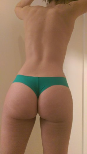 amateur photo Solo shot in my VS raw cut thong