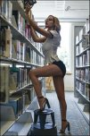 amateur photo Library Girl