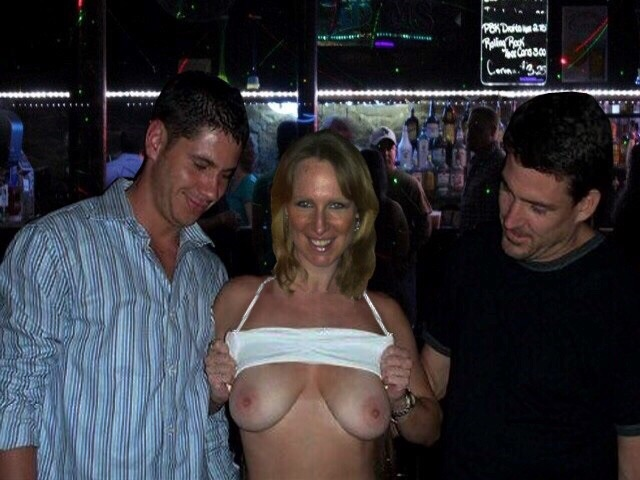 Are not wife flashing tits at bar remarkable