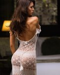 amateur photo Silvia Caruso in a see-thru dress