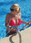 amateur photo Red Ruffle Bikini