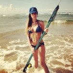 amateur photo The Spearfishing Huntress